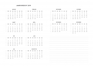 Weekplanner zonder data